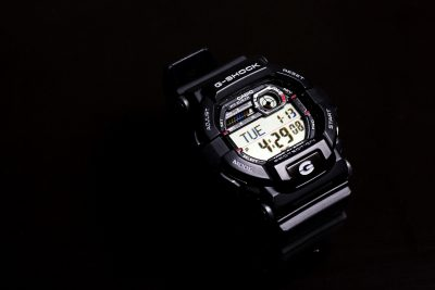 g-shock watch black time